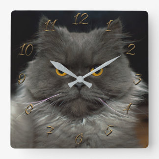 Horloge Carrée Chat mignon