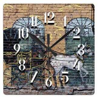 Horloge Carrée Cheval et chariot du centre de Nashville Tennessee