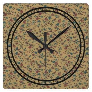 Horloge Carrée Chic élégant de vieille mode romantique vintage