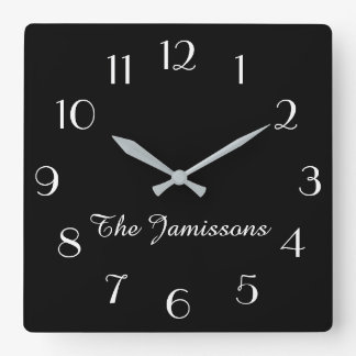Horloge Carrée CHOISISSEZ VOTRE COULEUR, horloge, personnalisée