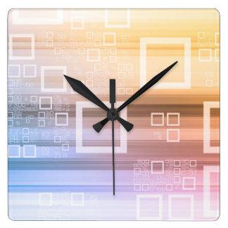 Horloge Carrée Concept du trafic de train de données de données