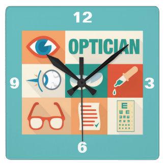 Horloge Carrée Conception iconique d'opticien professionnel