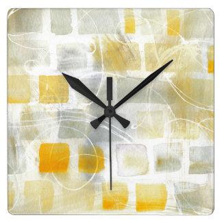 Horloge Carrée Copie abstraite   Sue Schlabach de Caracalla I