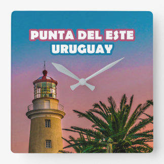 Horloge Carrée Copie d'affiche de Punta del Este