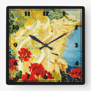 Horloge Carrée Côte d'Amalfi, Italie