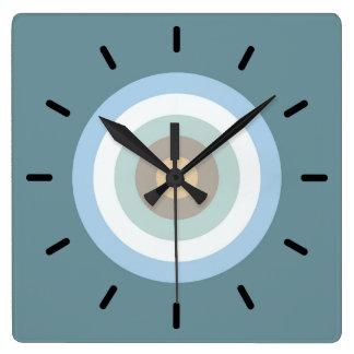 Horloge Carrée Couleur cinq combinée - turquoise de beige de