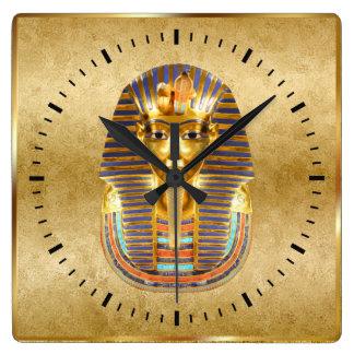 Horloge Carrée Décor égyptien de mur de thème