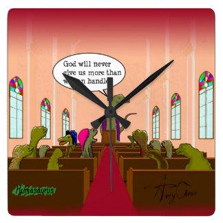 Horloge Carrée Dieu ne nous donne davantage jamais que nous pouvo
