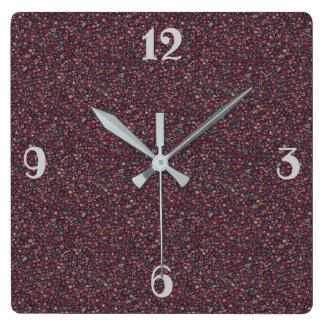 Horloge Carrée Distingué nostalgique romantique vintage de motif