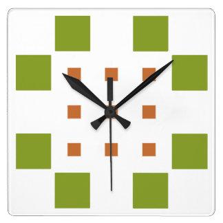 Horloges carr - Horloge murale carree ...