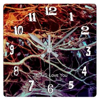 Horloge Carrée Enraciné et fermement fondé dans l'amour LM