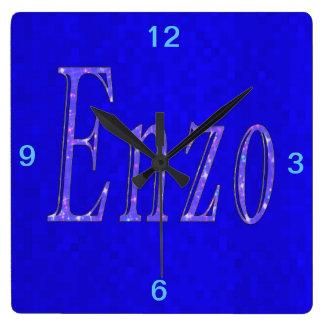 Horloge Carrée Enzo, logo nommé,