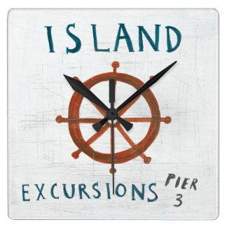 Horloge Carrée Excursions côtières d'île de l'art |