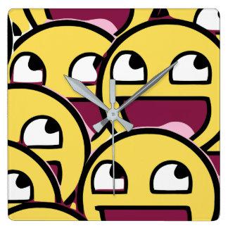Horloge Carrée Famille de sourire