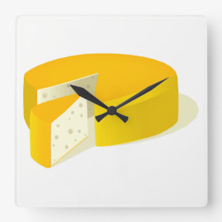 Horloge Carrée Fromage