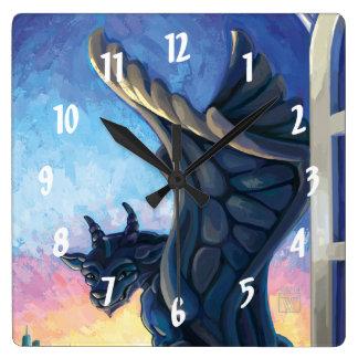 Horloge Carrée Gardien de gargouille