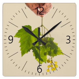 Horloge Carrée Groupe de raisin