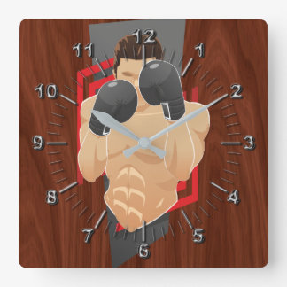 Horloge Carrée Gymnase de boxe