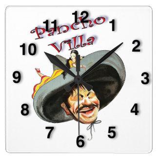 Horloge Carrée Héros Pancho Villa