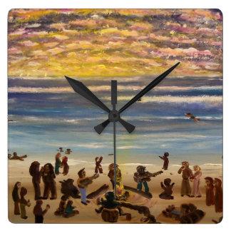 Horloge Carrée Horloge-carré de mur mitoyen de plage