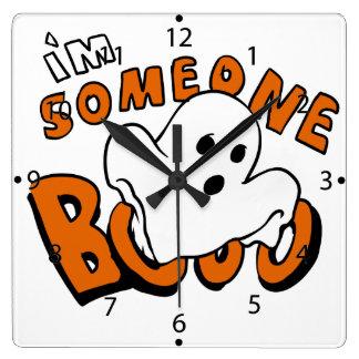 Horloge Carrée Huez - fantôme de bande dessinée - le fantôme de