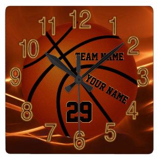 Horloge Carrée Idées supérieures de cadeau de basket-ball frais