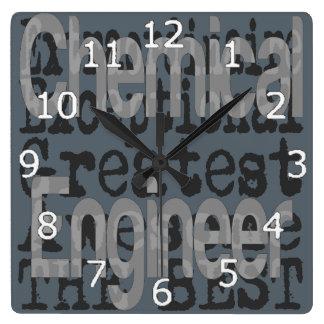 Horloge Carrée Ingénieur chimiste Extraordinaire