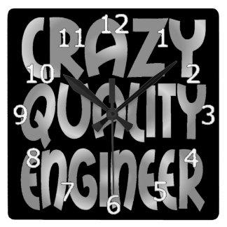 Horloge Carrée Ingénieur fol de qualité en argent