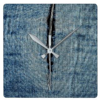 Horloge Carrée Jeans déchirés