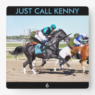 Horloge Carrée Juste appel Kenny