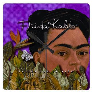 Horloge Carrée La Vida de Frida Kahlo Pasion Por