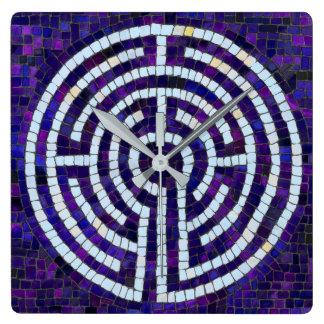 Horloge Carrée Labyrinthe VIII