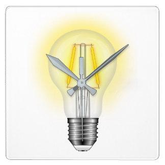 Horloge Carrée Lampe à lueur
