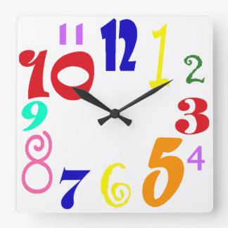 Horloge Carrée L'amusement numérote - des nombres géniaux