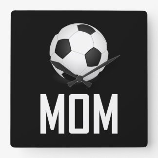 Horloge Carrée Le ballon de football folâtre la maman
