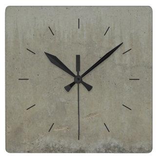 Horloge Carrée Le BÉTON LISSENT le décor industriel de  
