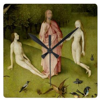 Horloge Carrée Le jardin des plaisirs terrestres, 15ème siècle
