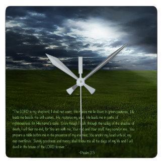 Horloge Carrée Le SEIGNEUR est mon berger