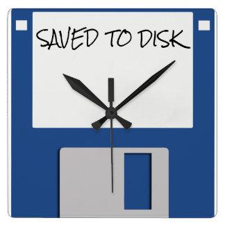 Horloge Carrée Les années 1980 de régression à disque souple