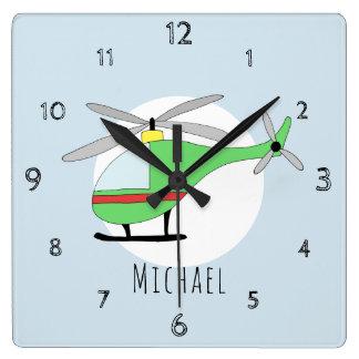 Horloge Carrée Les bébés gribouillent la crèche colorée