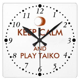 Horloge Carrée Les cadeaux de Taiko gardent la coutume de tambour
