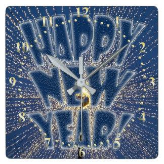 Horloge Carrée Les lumières de nouvelle année