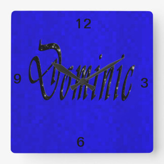 Horloge Carrée Logo nommé de Dominique,
