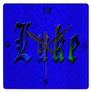 Horloge Carrée Logo nommé de Luc,