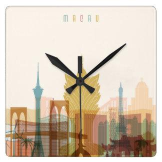 Horloge Carrée Macao, horizon de ville de la Chine |