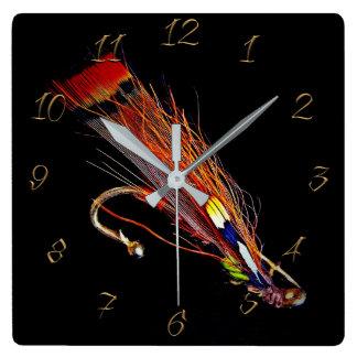 Horloge Carrée Magasin de pêche de mouche