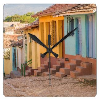 Horloge Carrée Maisons résidentielles, Trinidad, Cuba