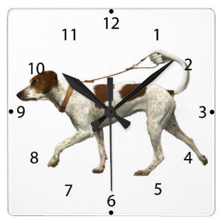 Horloge Carrée Marcheur de chien - queue de chien - saint Germain