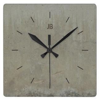 Horloge Carrée MARQUEZ LE BÉTON LISSENT | décor industriel