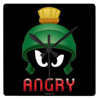 Horloge Carrée MARVIN le MARTIAN™ Emoji fâché